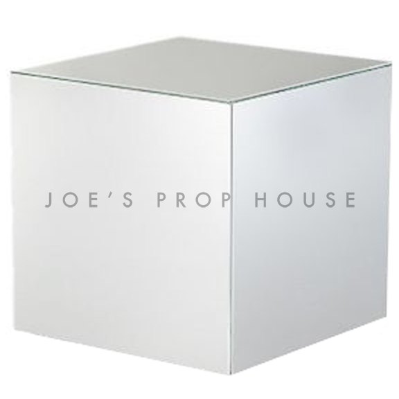 Chrome Cube End Table W18in x H18in x D18in
