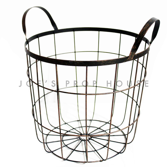 Wire Frame Basket w/Handles MEDIUM black