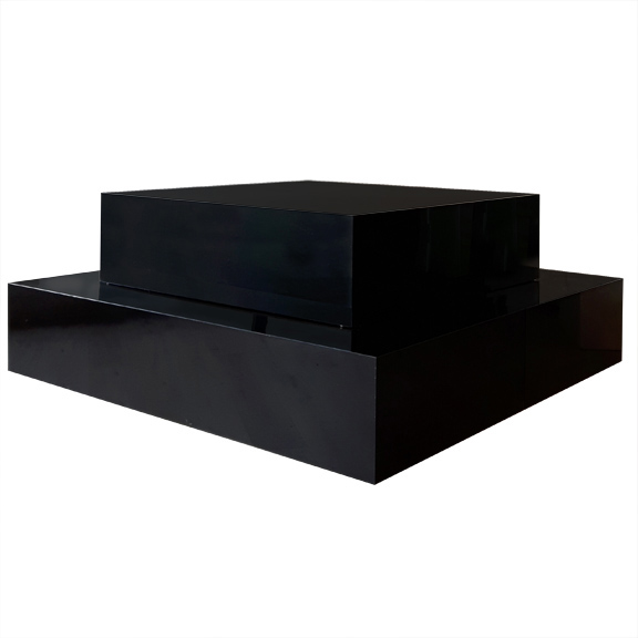 Black Plexi Stage Stacked W84in x L84in x H36in