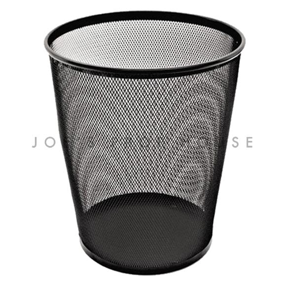 BUY ME / USED ITEM $4.99 each  Metal Mesh Waste Basket Black