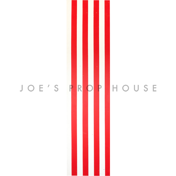 Red + White Self-Standing Striped Wall W2ft x H8ft