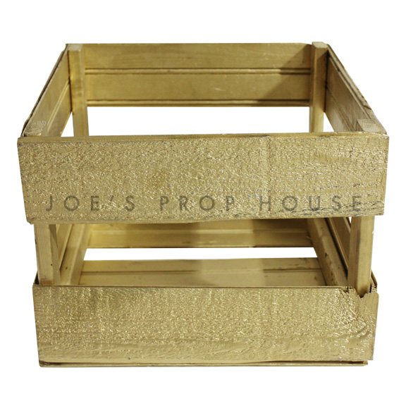 Wooden Crate Small Gold