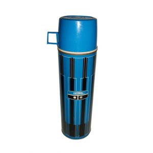 Striped Thermos Blue