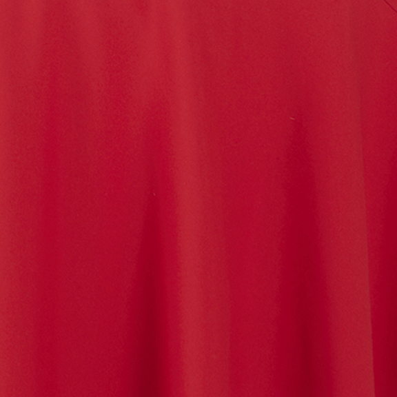 Red POLYESTER Tablecloth Round 90in