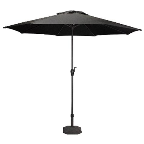Outdoor Black Umbrella w/base