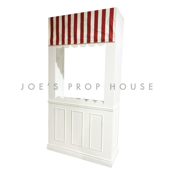 Candy Shop Wall Station w/Striped Red & White Awning