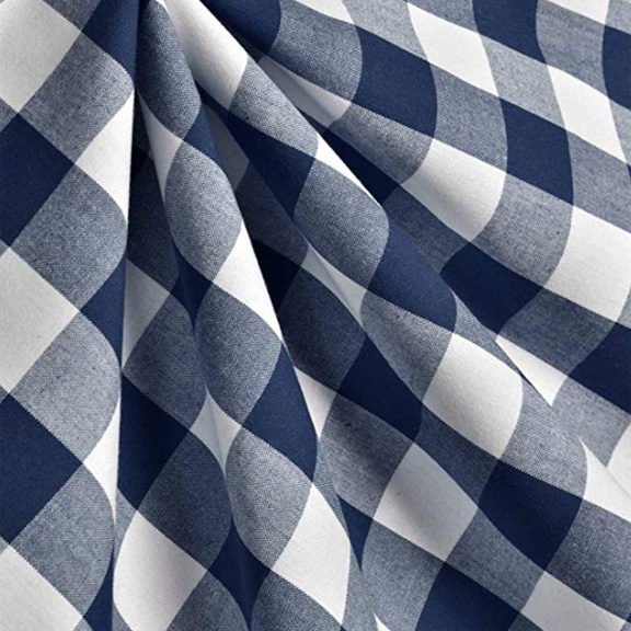 Blue + White Checkered Tablecloth Square 54in x 54in