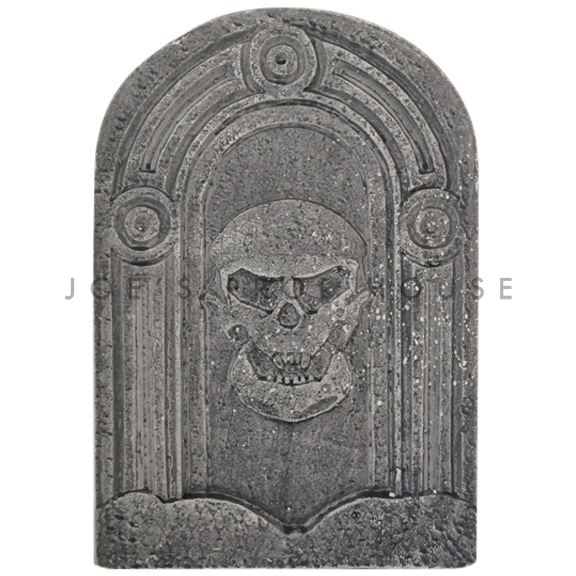 BUY ME / USED ITEM $4.99 each Skull Head Foam Tombstone Charcoal
