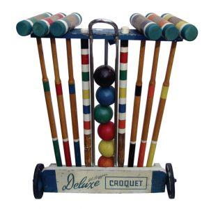 Vintage JC Higgins Deluxe Croquet Set