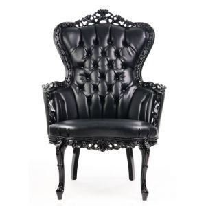 BUY ME / USED ITEM $950.00 each Baroque Tufted King Armchair Black
