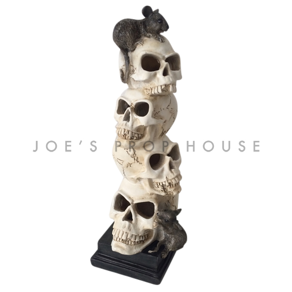 BUY ME / USED ITEM $15.99 each Four Stacked Skulls w/Rats Statue
