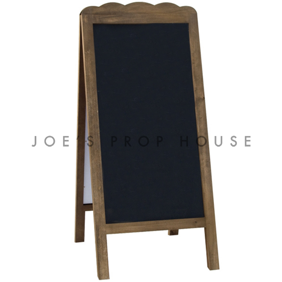 Double Sided Scallop Self-Standing Chalkboard