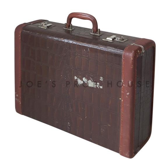 Scofield Croc Hardshell Luggage Brown