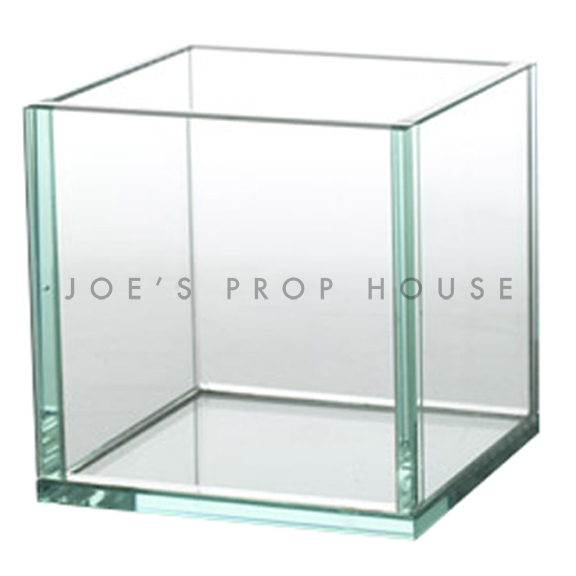 Joelle Clear Tempered Glass Square Container Cube H8in