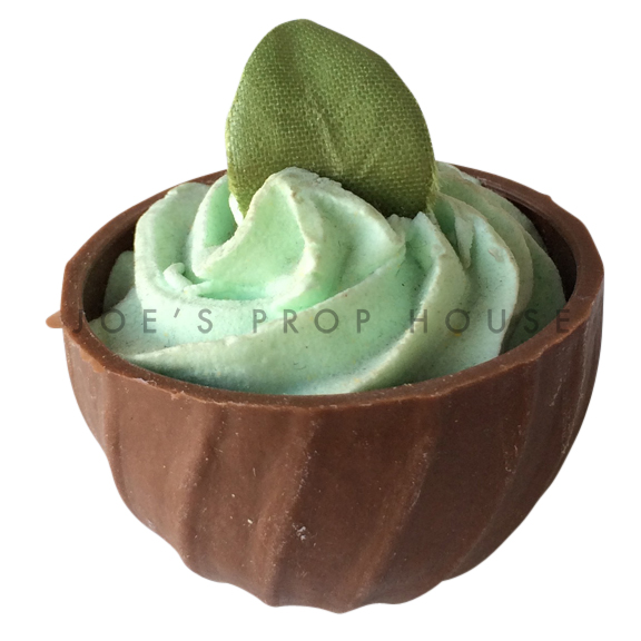 Mint Mousse Chocolate Cup Dessert Prop