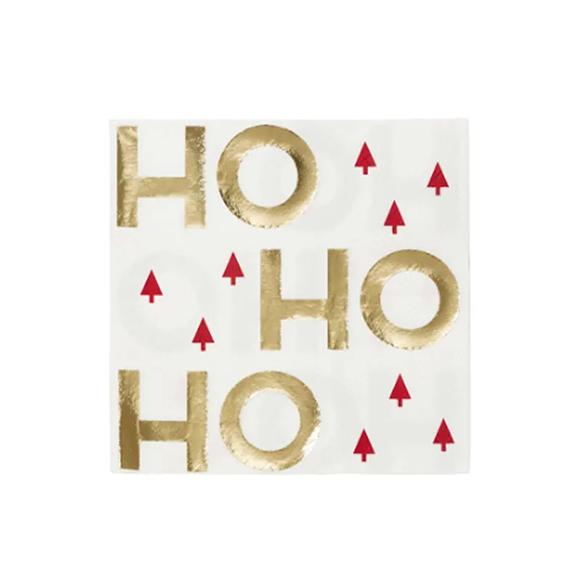 BUY ME / NEW ITEM $8.99 each HO HO HO Large Paper Napkins - 16 Pack