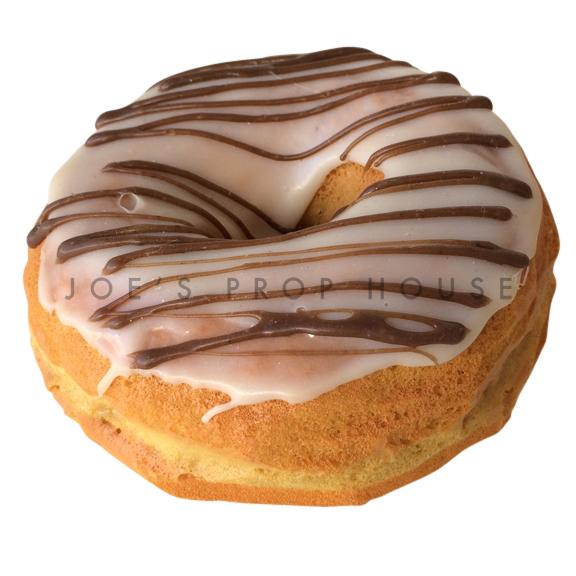 Vanilla Chocolate Drizzle Donut Dessert Prop