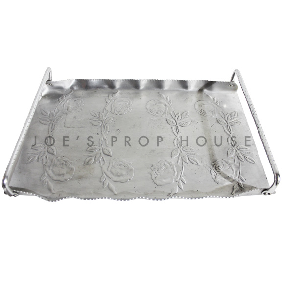 Rosie Embossed Aluminum Serving Tray