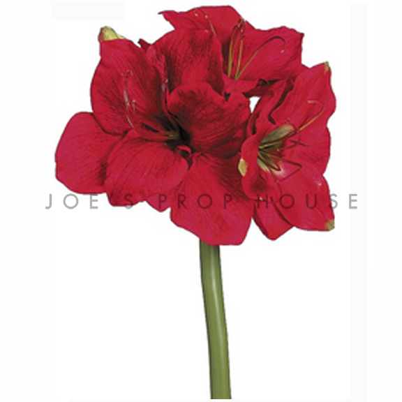 Articifial Long Stem Amaryllis Spary Red