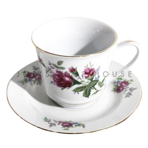 Melissa Floral Teacup and Saucer