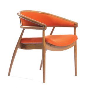 BUY ME / USED ITEM $125.00 each Upholstered Orange Wood Office Chair