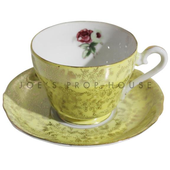 Hollander Yellow Teacup and Saucer