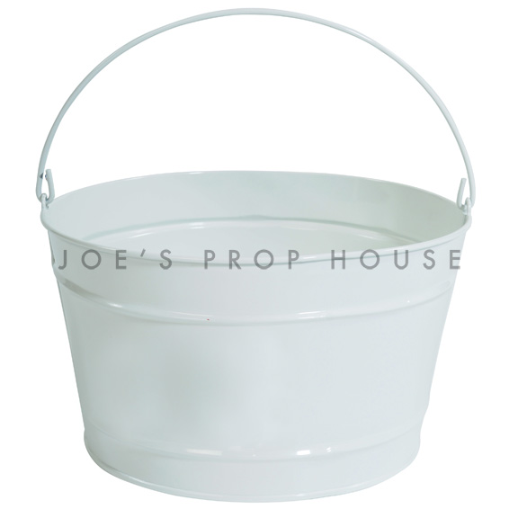 White Metal Bucket