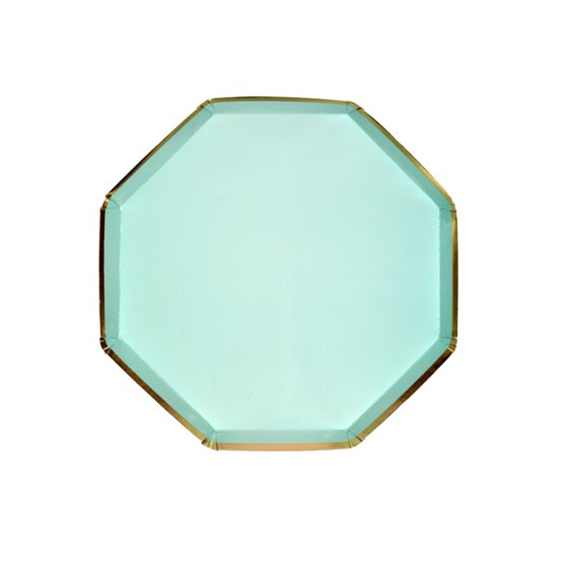BUY ME / NEW ITEM $8.99 each Mint Green Octagonal Small Paper Plates - 8 Pack