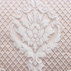 Blush DAMASK QUILT Tablecloth Round 132in