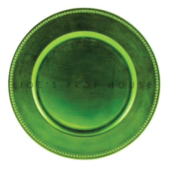 BUY ME / USED ITEM $1.99 each Lime Green Beaded Charger Plate