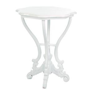 Scallop Round End Table White