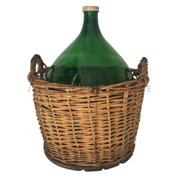 Della Large Half Wicker Wine Jug