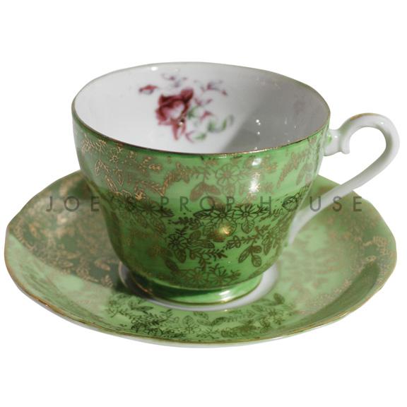 Hollander Verde Teacup and Saucer