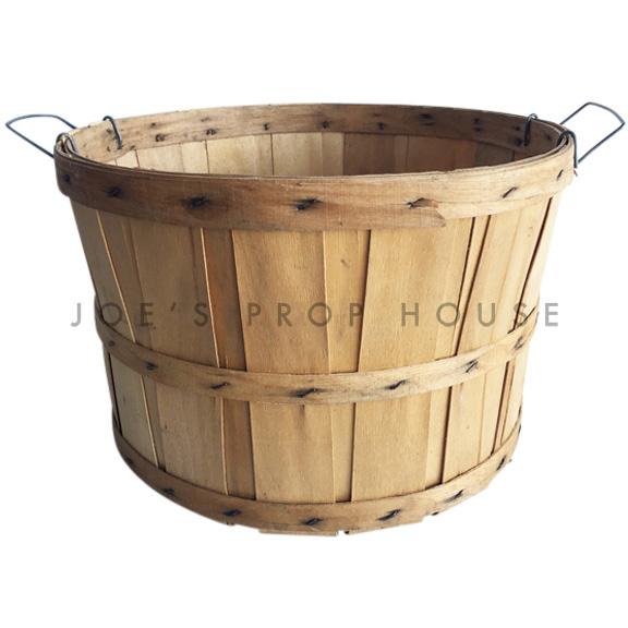 Chipwood Bushel Basket w/Handles LARGE