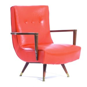 BUY ME / USED ITEM $195.00 each Vintage Vinyl Lounge Armchair Orange