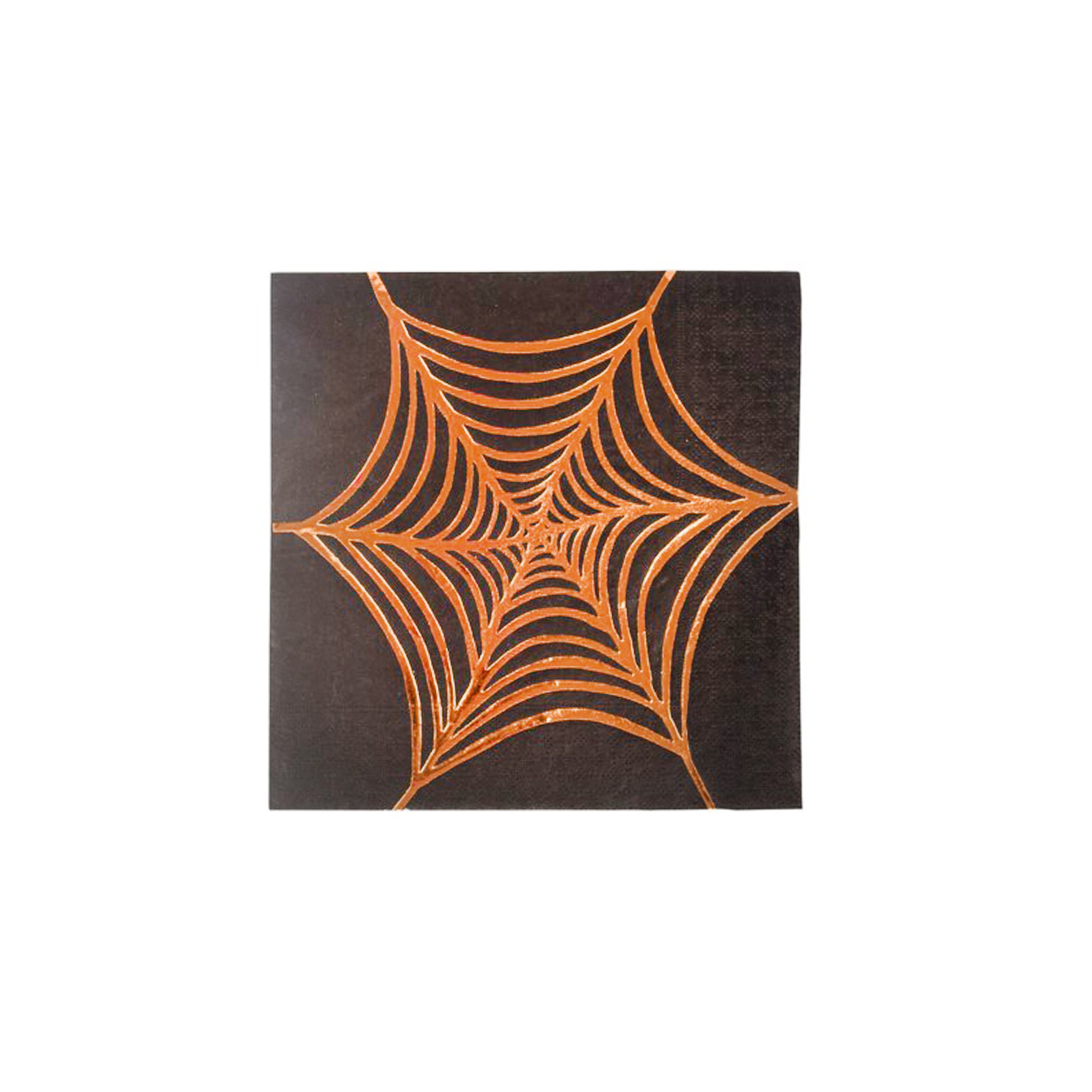BUY ME / NEW ITEM $8.99 each Rose Gold Foil Cobweb Small Paper Napkins - 16 Pack