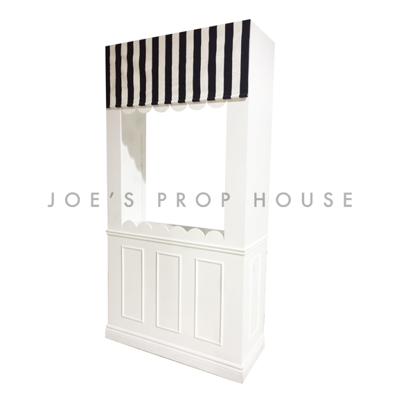 Candy Shop Wall Station w/Striped B/W Awning